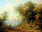 Braginskiy Arthur - 'Landscape with Old Castle'