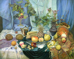 Bulgakov Valeriy  - 'Still Life with Pineapple'