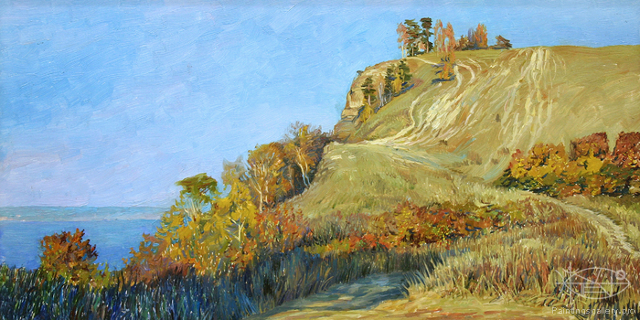 Bulgakov Valeriy - 'Volga. Evening on the Molodetskiy Mound'