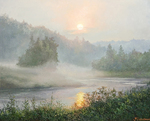 Burmakin Yevgeniy - 'Fog over the River'