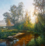 Burmakin Yevgeniy - 'Morning in the Forest'