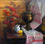 Busygin Valeriy - 'Still Life with Ashberry'