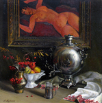 Busygin Valeriy - 'Still Life with Painting'