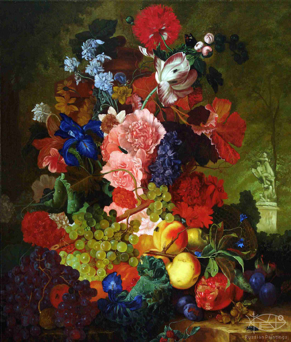 Cojin Semen - 'Still Life with Flowers'