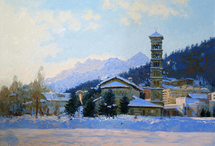 Cojin Semen - 'The Cathedral of St. Paul in San Moritz'