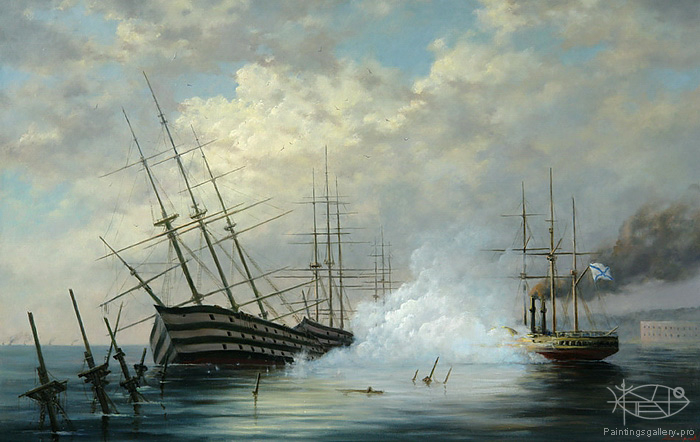 Dmitriew George - 'Flooding of the Black Sea Fleet in Sevastopol in 1854'