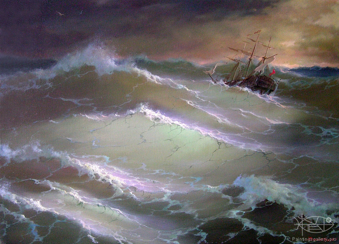 Dmitriew George - 'In the Middle of Rough Sea'