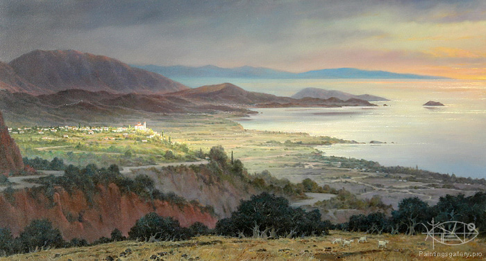 Dmitriew George - 'On the Northern Coast of Crete'