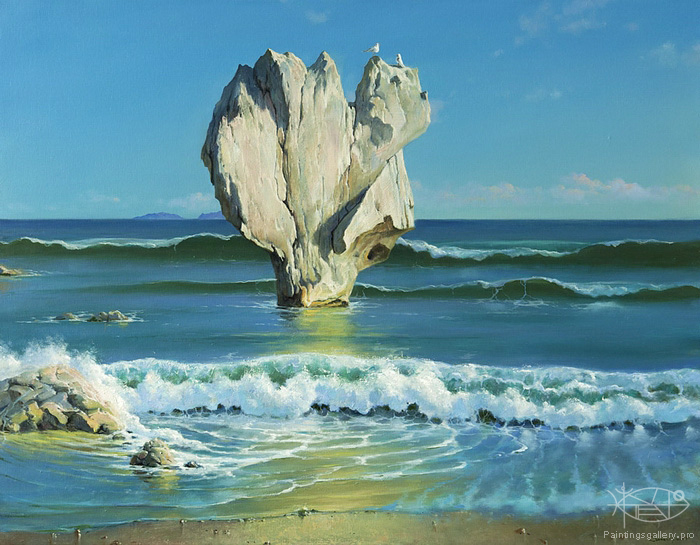 Dmitriew George - 'Rock. At the Shore'