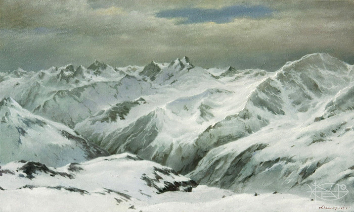Dmitriew George - 'View from the Elbrus Mountain'