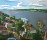 Dubov Andrew - 'Landscape with the Volga River'