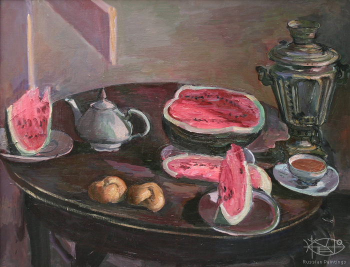 Dubov Andrew - 'Still Life with Watermelon'