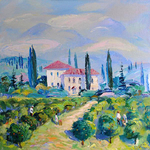 Ermolenko Alexander  - 'The Farmstead near Verona'