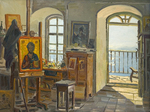 Evstigneev Alexis  - 'Icon Artist Studio on the Afon Island'