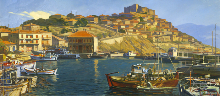 Evstigneev Alexis - 'Molevos Town on the Lesbos Island'