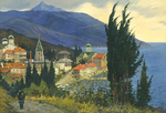 Evstigneev Alexis - 'Russian Temple on the Afon Island'