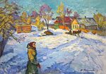 Filippov Yuriy - 'Beginning of March in the Village'