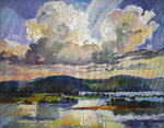 Filippov Yuriy - 'Clouds over the Volga River. Sunset'