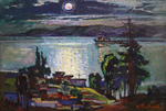 Filippov Yuriy - 'Moonlit Night over the Volga River'