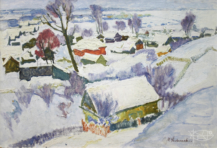 Filippov Yuriy - 'Winter in Pereslavl'