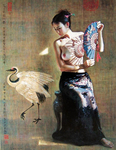 Guan Zeju  - 'Girl with the Fan'