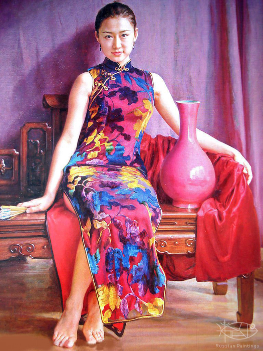 Guan Zeju - 'Girl with the Red Vase'