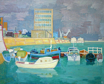 Ievlev Boris Alexandrovich - 'Boats at Levee'