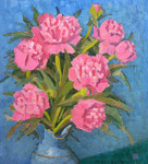 Ievlev Boris Alexandrovich - 'Bunch of Peonies'