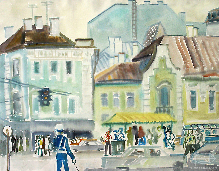 Ievlev Boris - 'Crouded Junction. Moscow'