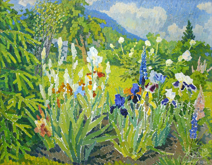 Ievlev Boris Alexandrovich - 'Irises are Blooming'