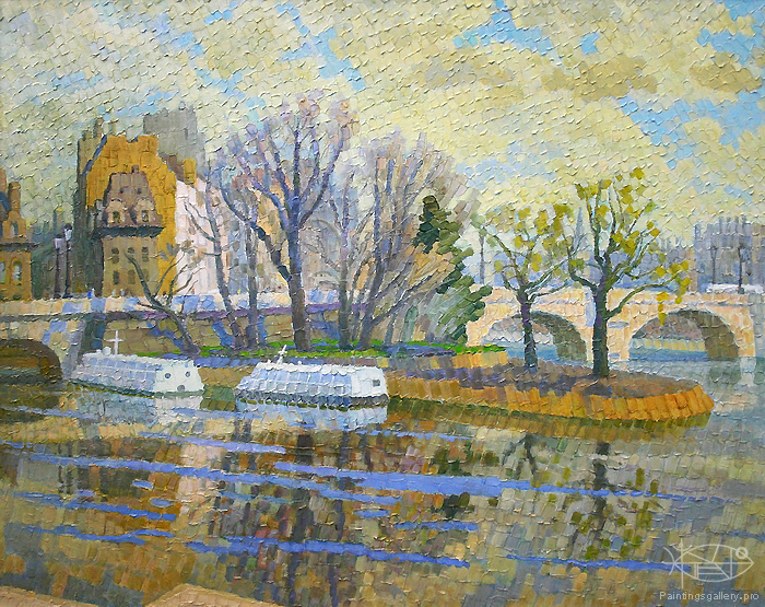Ievlev Boris Alexandrovich - 'Paris on the Siene River'