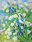 Ievlev Boris - 'Peonies and Irises'