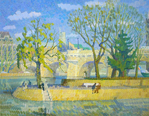 Ievlev Boris Alexandrovich - 'Spring on the Seine River'