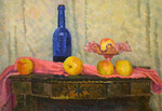 Ievlev Boris Alexandrovich - 'Still Life with Blue Bottle'