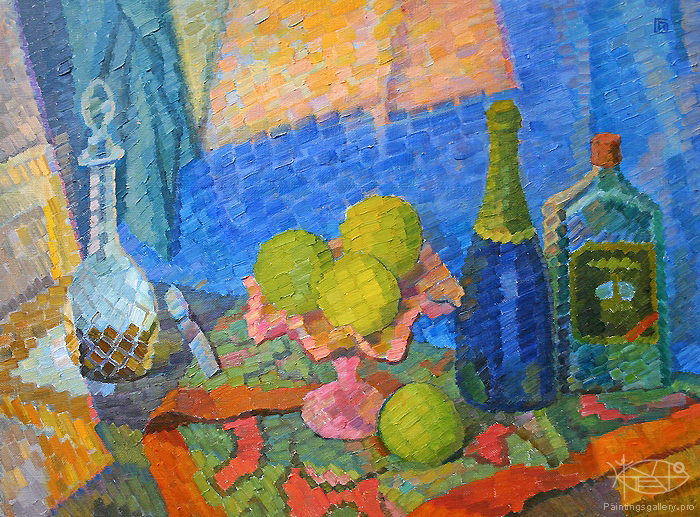 Ievlev Boris Alexandrovich - 'Still Life with Grapefruits'