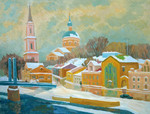 Ievlev Boris - 'The Torgok River. The First Snow'