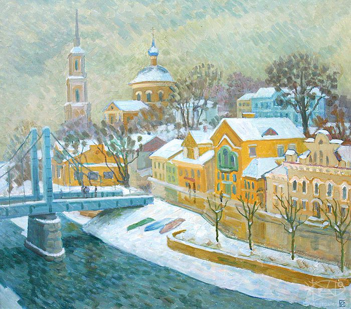Ievlev Boris - 'Torzhok City in Winter'