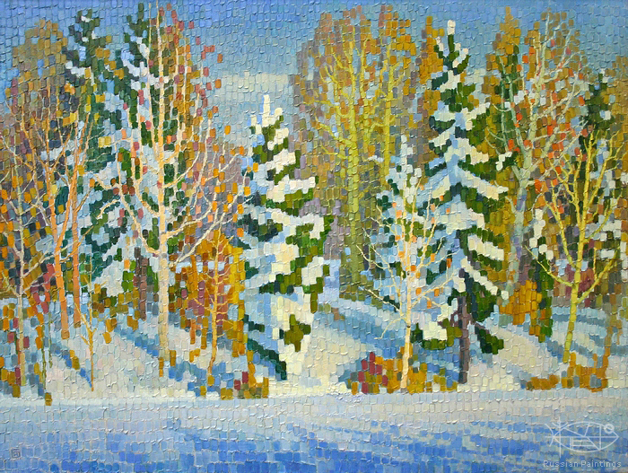 Ievlev Boris Alexandrovich - 'Winter Forest'
