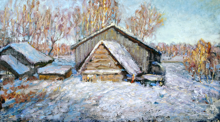 Ignatyev Oleg - 'Winter in Zarechye'