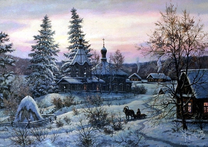 Khananin Sergey - 'Evening in Village'