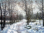 Khananin Sergey  - 'Park in Winter'