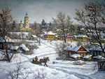Khananin Sergey - 'Winter in Village'