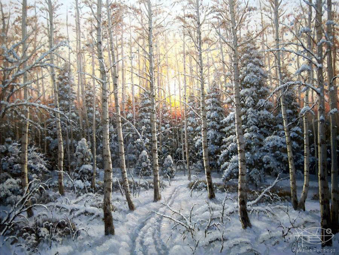 Khananin Sergey - 'Winter Sunset'
