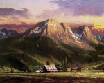 Kinkade Thomas - 'Dusk in the Valley'