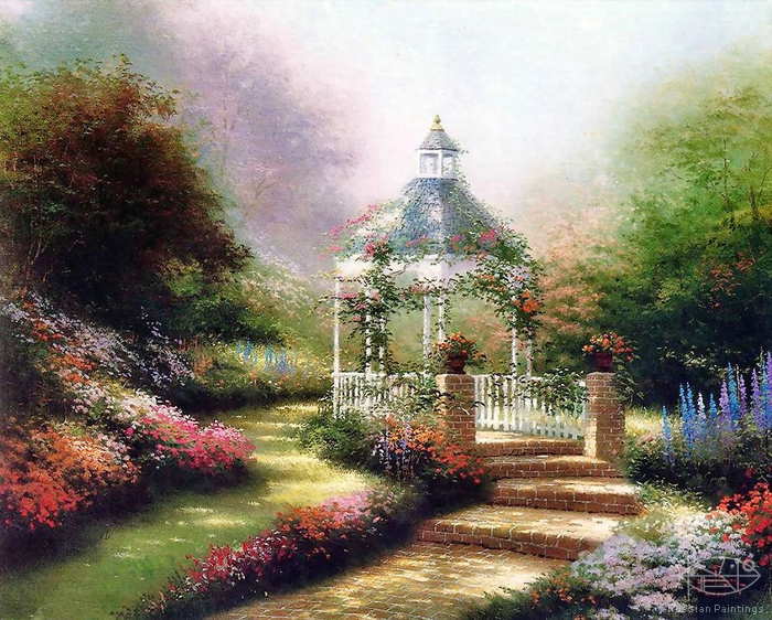 Kinkade Thomas - 'Hidden Gazebo'
