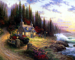 Kinkade Thomas - 'Seaside Cottage'