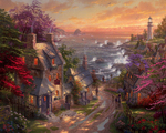 Kinkade Thomas - 'Village by the Sea'