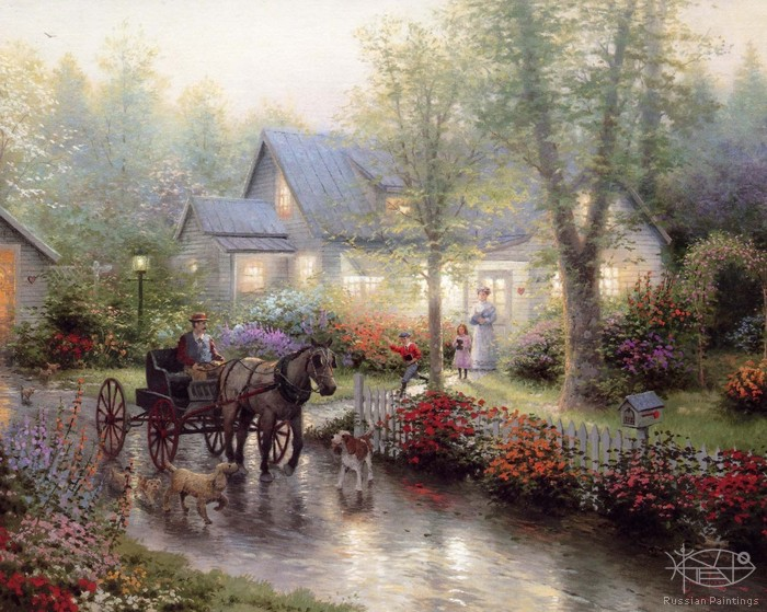 Kinkade Thomas - 'Village Life'