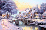 Kinkade Thomas  - 'Winter Landscape'