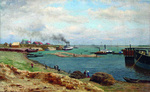 Kiselev Alexander - 'On the Volga. Marina near Kazan'